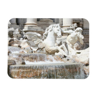 Trevi Fountain Triton and Horse in Rome, Italy Rectangular Photo Magnet