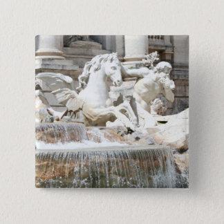 Trevi Fountain Triton and Horse Pinback Button