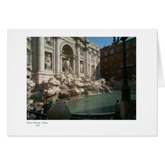 Trevi, fuente del Trevi - Roma 1762 Tarjeta De Felicitación