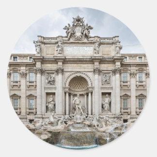 Trevi-Fuente, - Roma, - Angie.JPG Pegatina Redonda