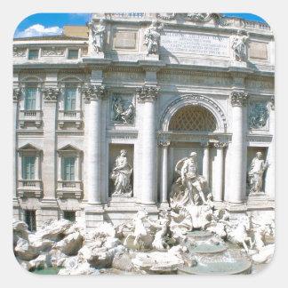 Trevi-Fuente-Roma-Italia [kan.k] .JPG Calcomanía Cuadrada Personalizada