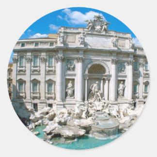 Trevi-Fuente-Roma-Italia [kan.k] .JPG Pegatinas Redondas