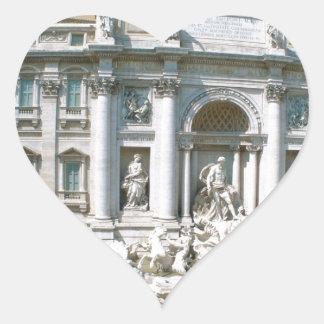 Trevi-Fuente-Roma-Italia [kan.k] .JPG Pegatina Corazón Personalizadas
