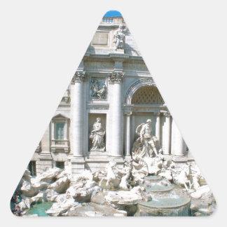 Trevi-Fuente-Roma-Italia [kan.k] .JPG Calcomanía De Triangulo Personalizadas