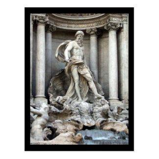 trevi rome postcard