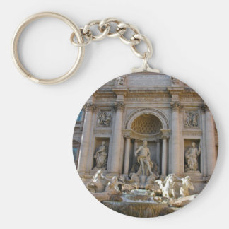 Trevi well in Rome Basic Round Button Keychain