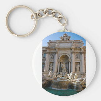 Trevi well in Rome - Italy Basic Round Button Keychain