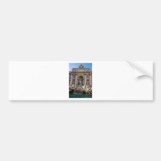 Trevi well in Rome - Italy Bumper Sticker