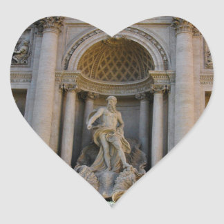 Trevi well in Rome - Italy Heart Sticker