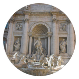 Trevi well in Rome - Italy Plate
