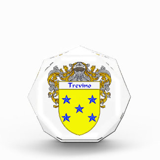 Trevino Coat of Arms Family Crest Awards