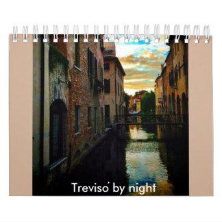 Treviso por noche calendarios de pared