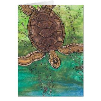 Trevor the Turtle card card