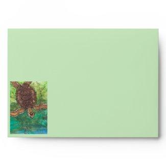 Trevor the Turtle Envelope envelope