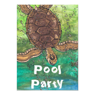 Trevor the Turtle Party Invitations