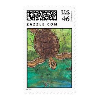 Trevor the Turtle Postage stamp