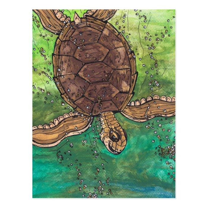 Trevor the Turtle Postcard