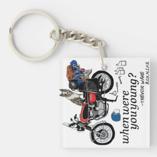 Trevor Ware (B.O.X.N.I.F.E.)- When Were You Young? Single-Sided Square Acrylic Keychain