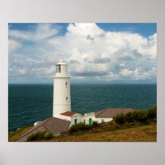 Trevose Head Lighthouse Cornwall England Poster