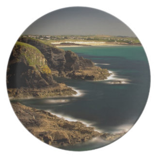 Trevose Head to Constantine Bay, Cornwall, UK Party Plate