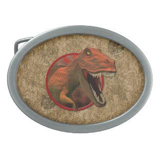 TRex Oval Belt Buckle