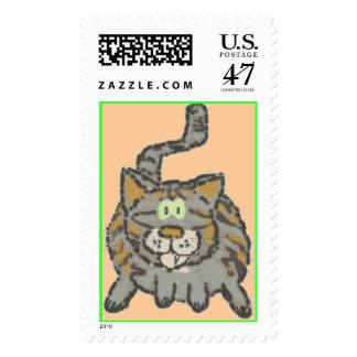Trex cartoon stamp