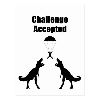 TRex Challenge Accepted Post Cards