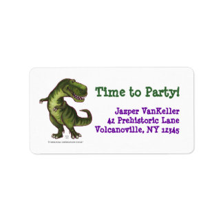 TRex Dinosaur, Time to Party Address Labels