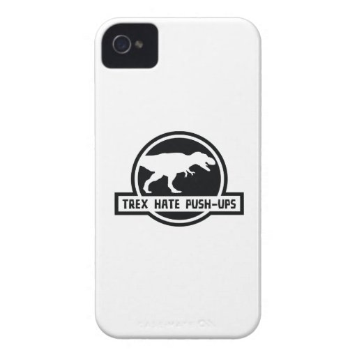 Trex Hate Push-Ups iPhone 4 Case-Mate Case