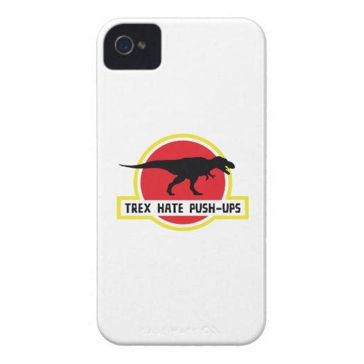 Trex Hate Push-Ups iPhone 4 Cases