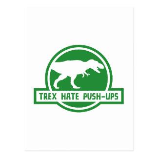 Trex Hate Push-Ups Postcards