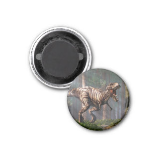 TRex in the Forest 1 Inch Round Magnet