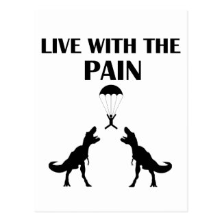 TRex Live with the Pain Postcard