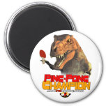 TRex: Ping Pong Champion Refrigerator Magnet