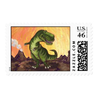 TRex Postage Stamp stamp