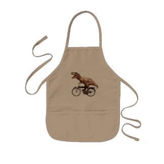 Trex riding bike kids' apron
