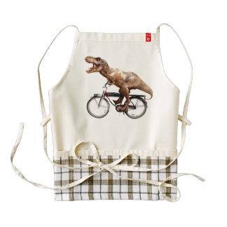 Trex riding bike zazzle HEART apron