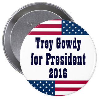 Trey Gowdy for President 2016-American Flag Pinback Button