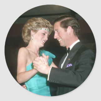 TRH The Prince & Princess of Wales Australia Classic Round Sticker