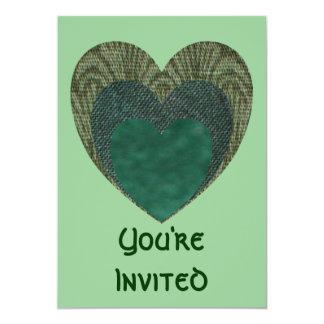 TrHeart 5x7 Paper Invitation Card