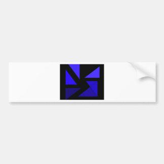 Tri 3 azul - CricketDiane PopArt abstracto Pegatina De Parachoque