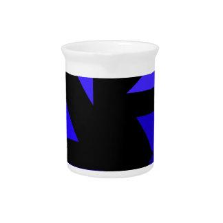Tri 3 azul - CricketDiane PopArt abstracto Jarras