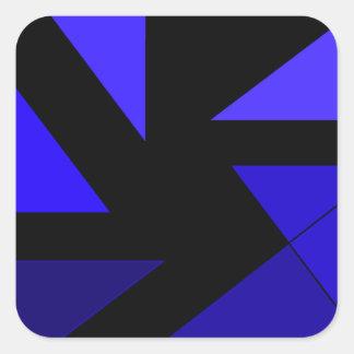 Tri 3 azul - CricketDiane PopArt abstracto Pegatina Cuadrada