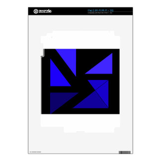 Tri 3 Blue - CricketDiane Abstract PopArt Decals For The iPad 2