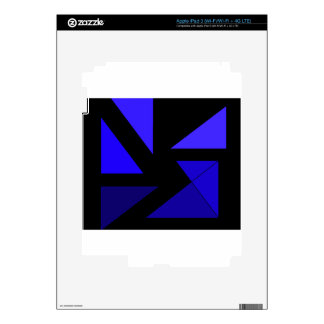 Tri 3 Blue - CricketDiane Abstract PopArt Skin For iPad 3