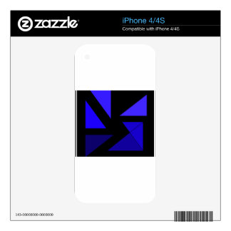 Tri 3 Blue - CricketDiane Abstract PopArt Decals For The iPhone 4S
