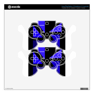 Tri 3 Blue - CricketDiane Abstract PopArt PS3 Controller Decal