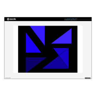 """Tri 3 Blue - CricketDiane Abstract PopArt 15"""" Laptop Decal"""