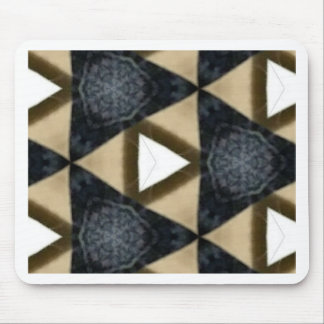 Tri and Tri Again Blue Patterned Mouse Pad