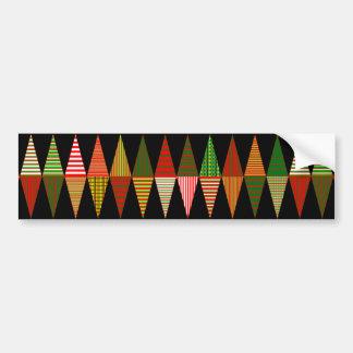 Tri árboles de navidad adaptables pegatina para auto